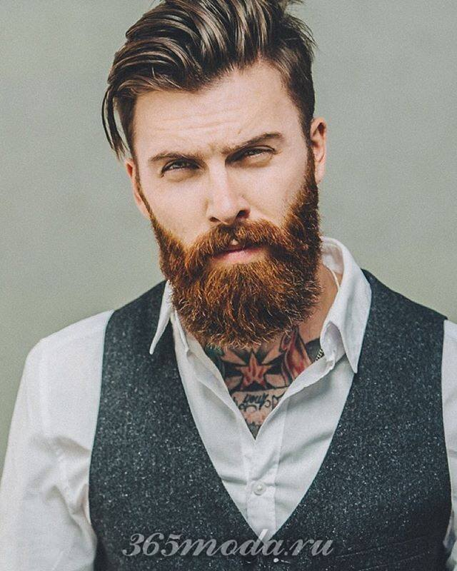 Модная мужская борода для рыжих 2018