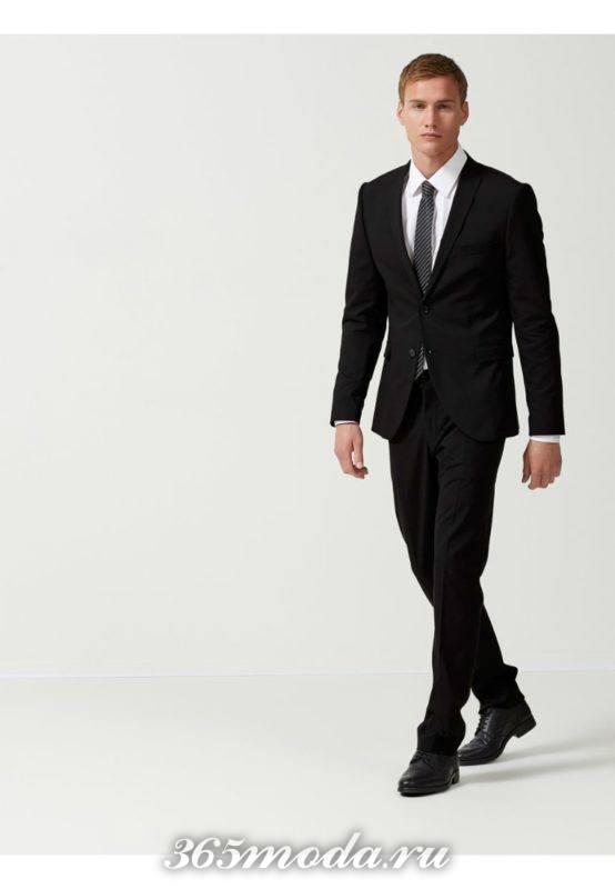 Модные черные костюмы весна-лето 2018