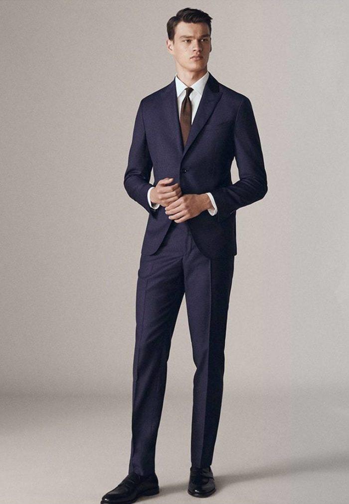 Модные мужские синие костюмы весна-лето 2019