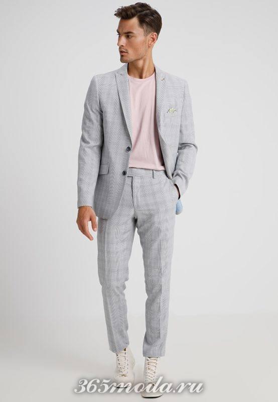 Модные мужские серые костюмы весна-лето 2018