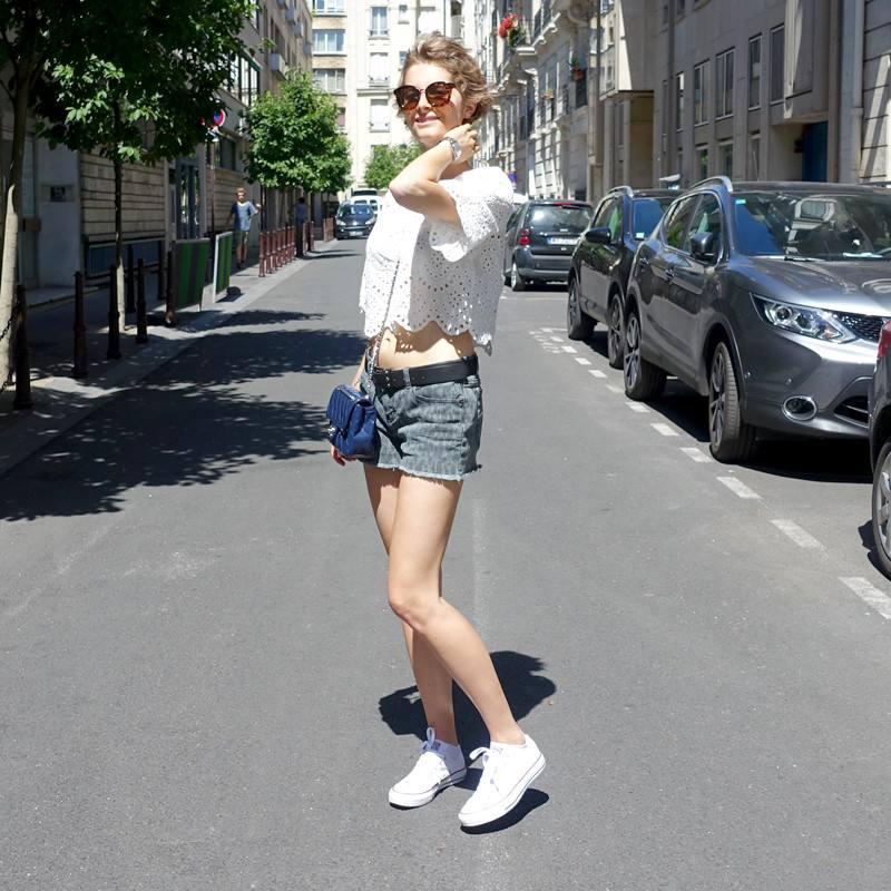 Модные шорты в уличной моде весна-лето 2018