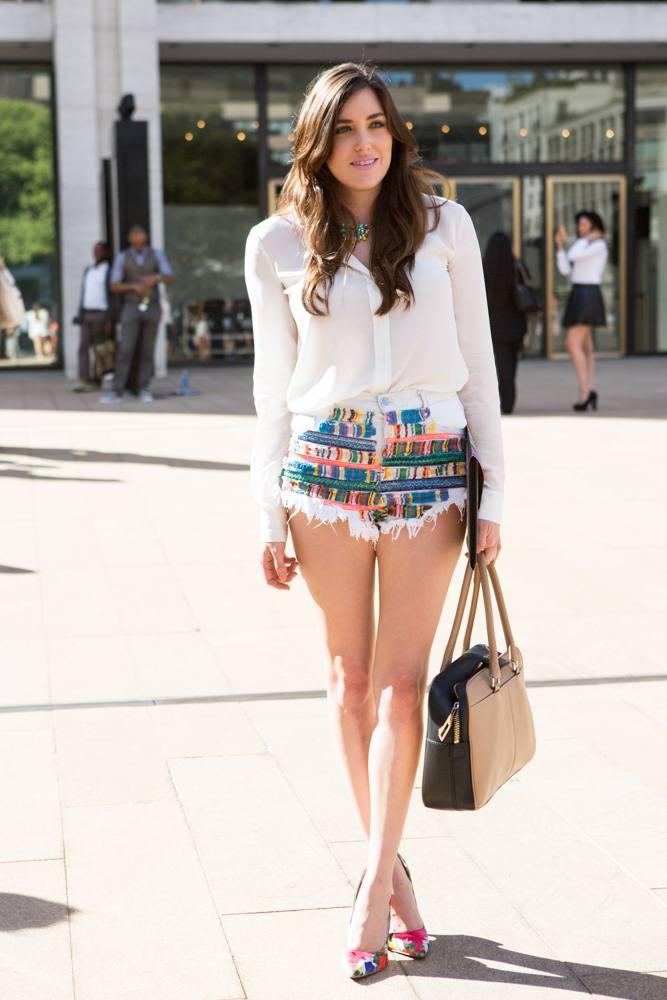 Модные шорты в уличной моде весна-лето 2019