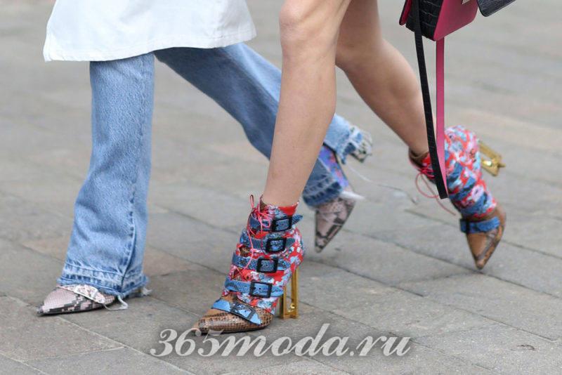 Модная обувь в уличной моде весна-лето 2018