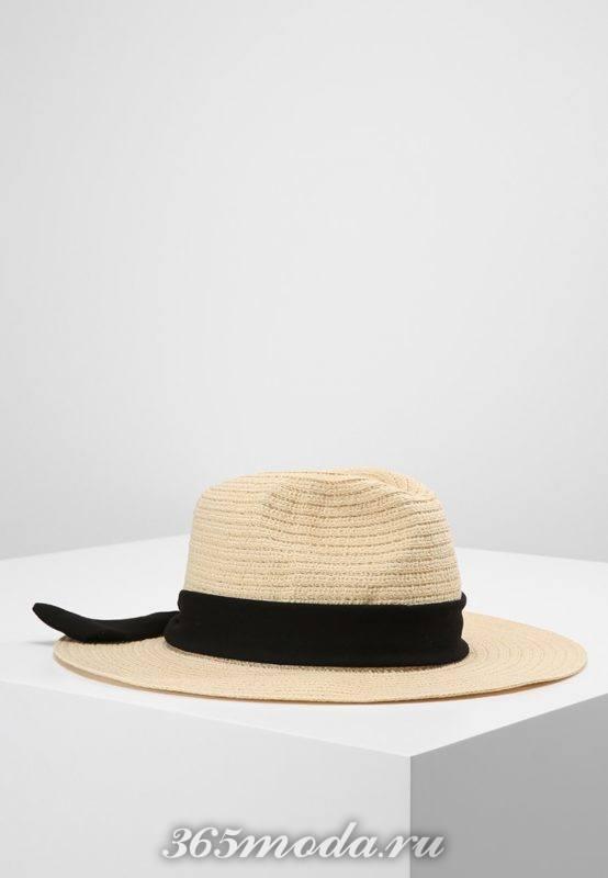 Модная широкополая шляпа весна-лето 2018