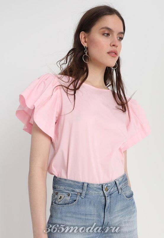 розовая футболка весна-лето 2018