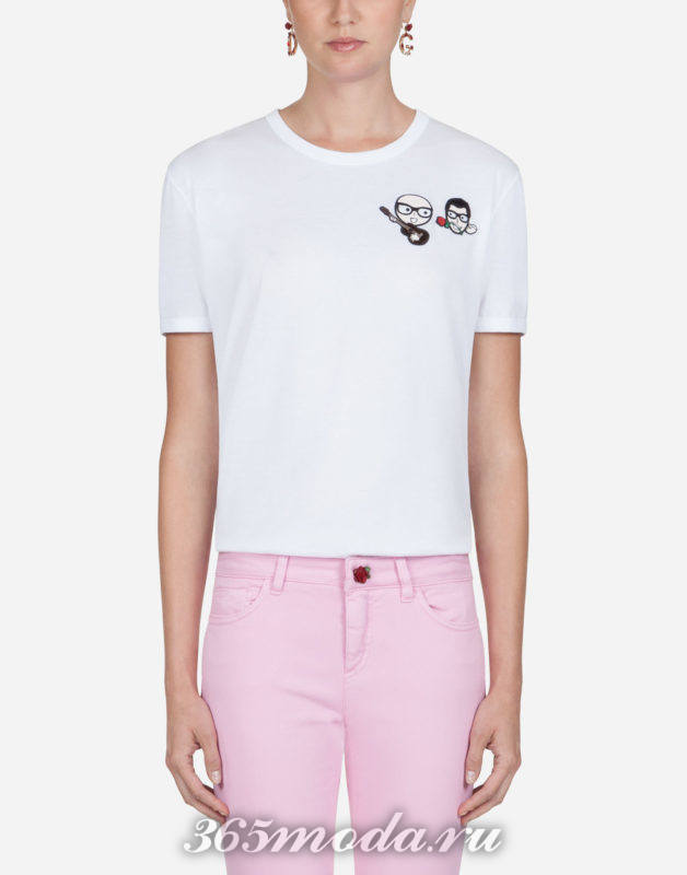 Модная футболка весна-лето 2018