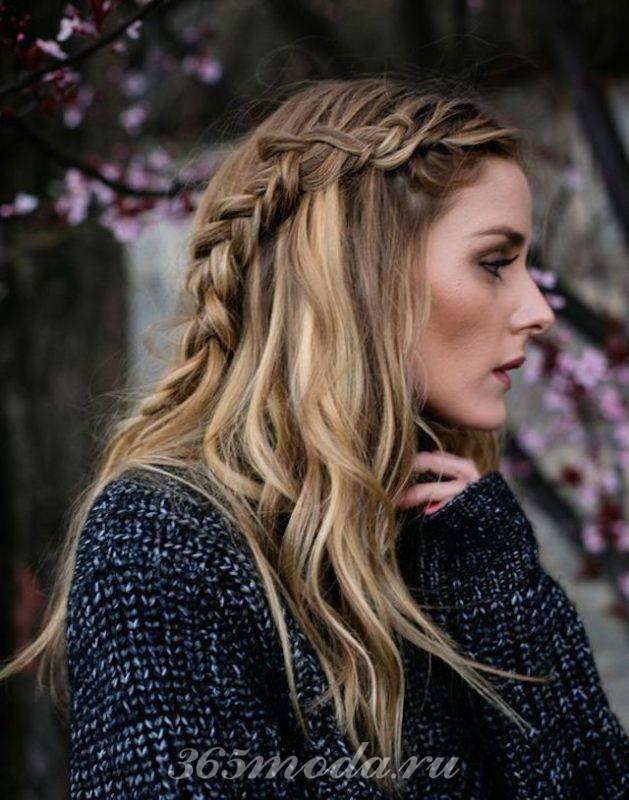 Распущенные волосы прически весна-лето 2018