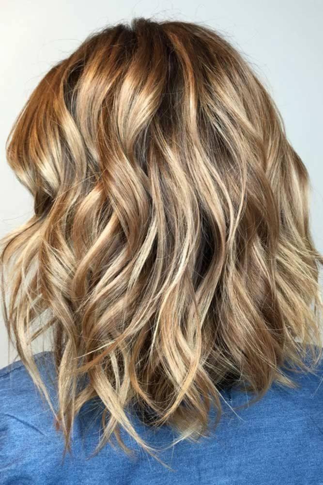Волнистые волосы прически