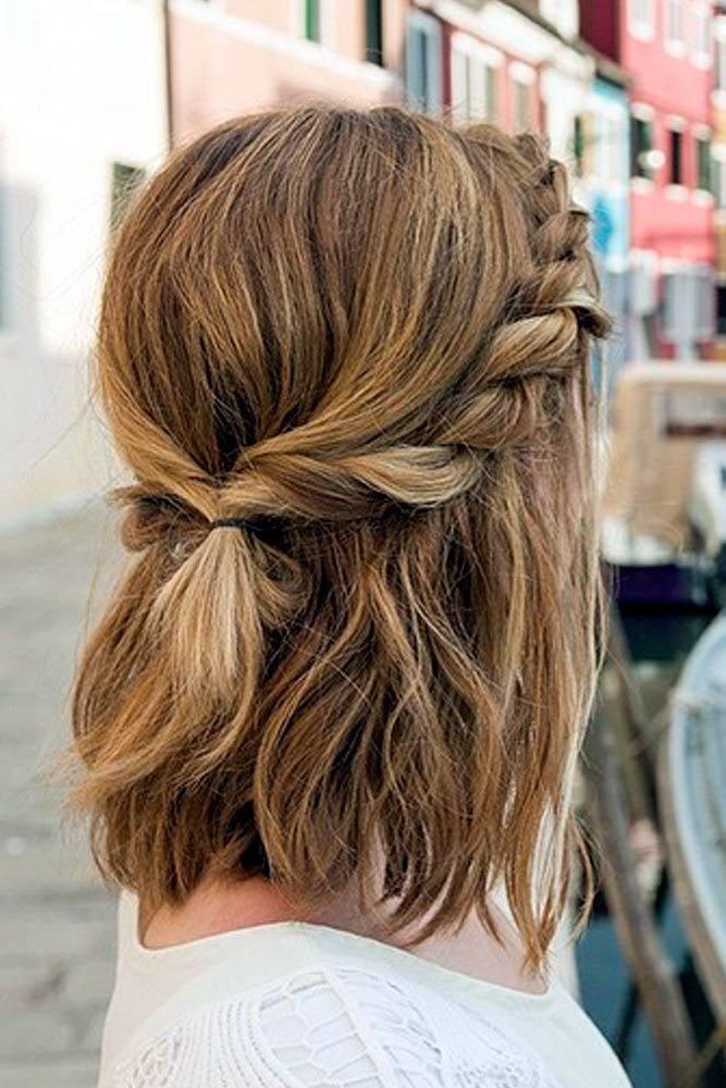 Прическа с косой весна-лето