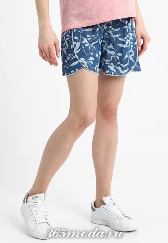 синие спортивные шорты весна-лето 2019