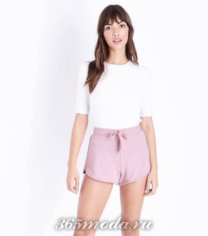 розовые спортивные шорты весна-лето 2019