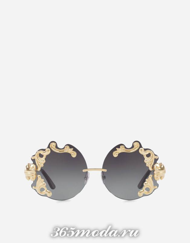 Модные округлые солнцезащитные очки весна-лето 2018