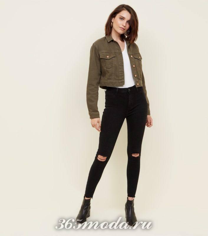 Модныеженскиерваные джинсы весна-лето 2018