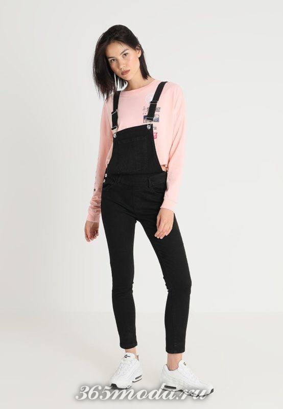 Модный женский джинсовый комбинезон весна-лето 2018
