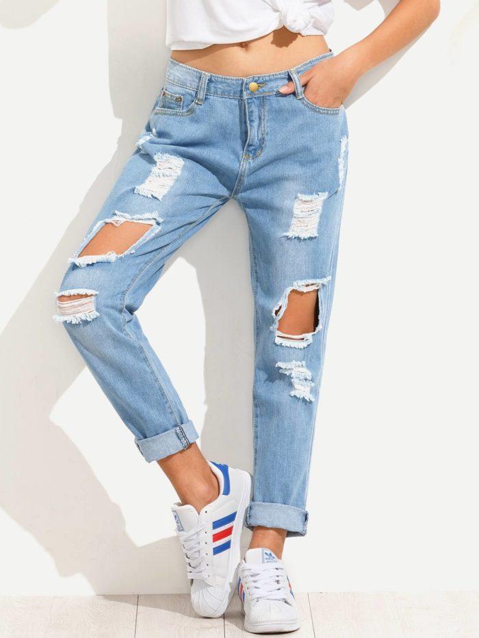 Модные женские джинсы бойфренды весна-лето 2019