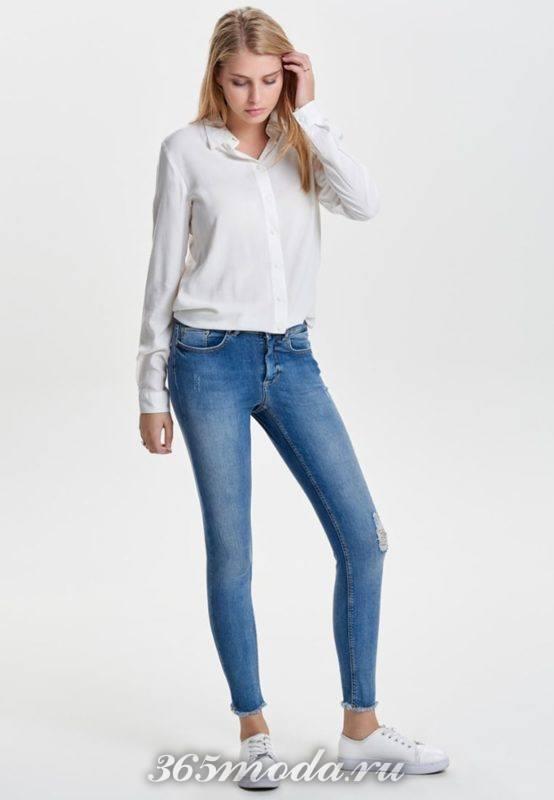 Модные джинсы скинни весна-лето 2018