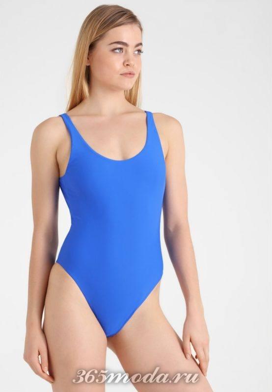 Модный слитный купальник лето 2018