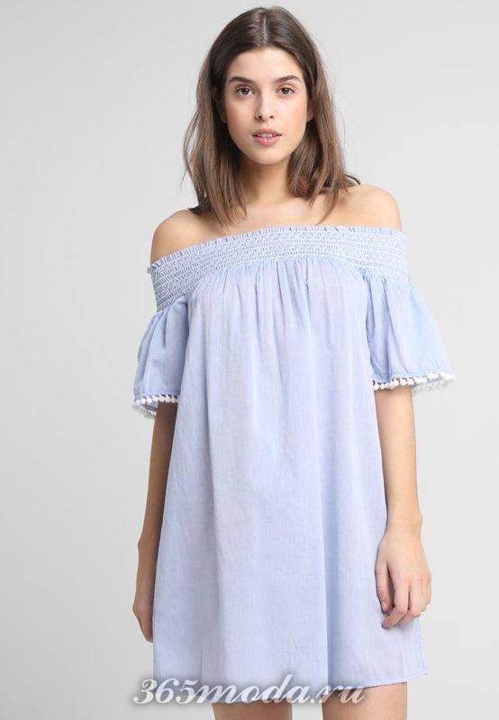 Модные платья и туники лето 2018