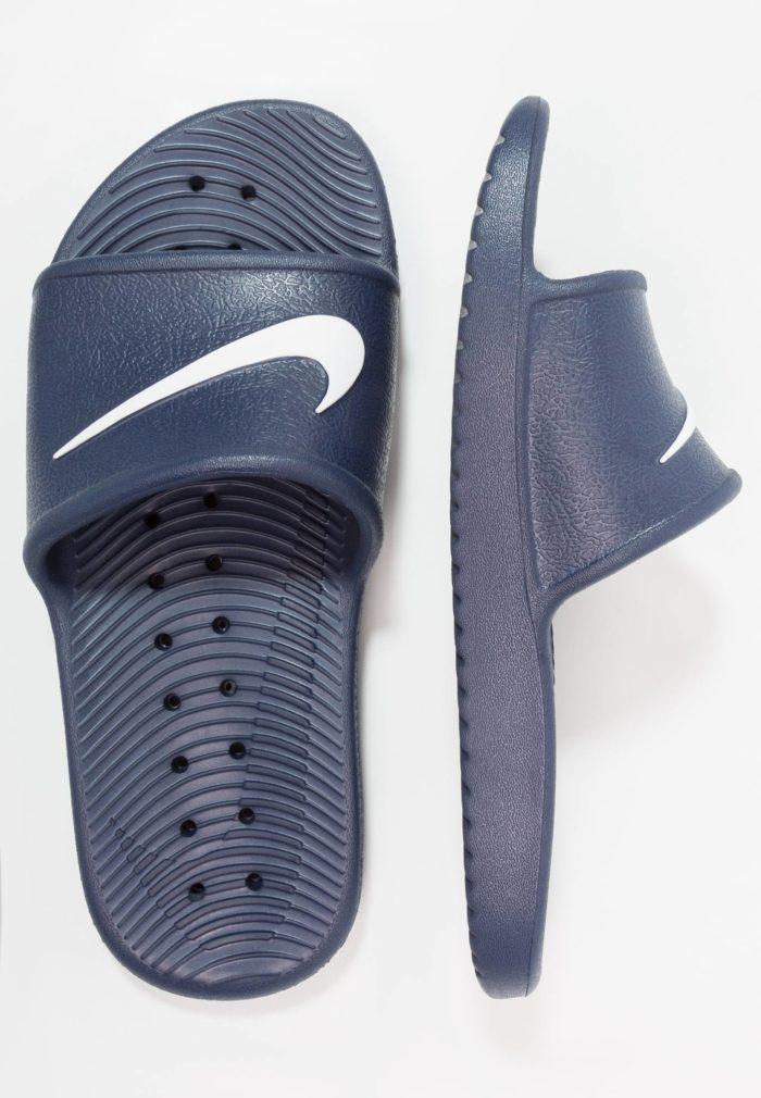 темно-синие шлепки