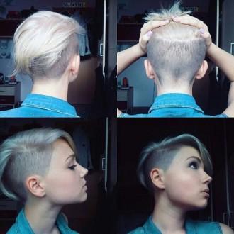 Женские стильные причёски с выбритыми висками