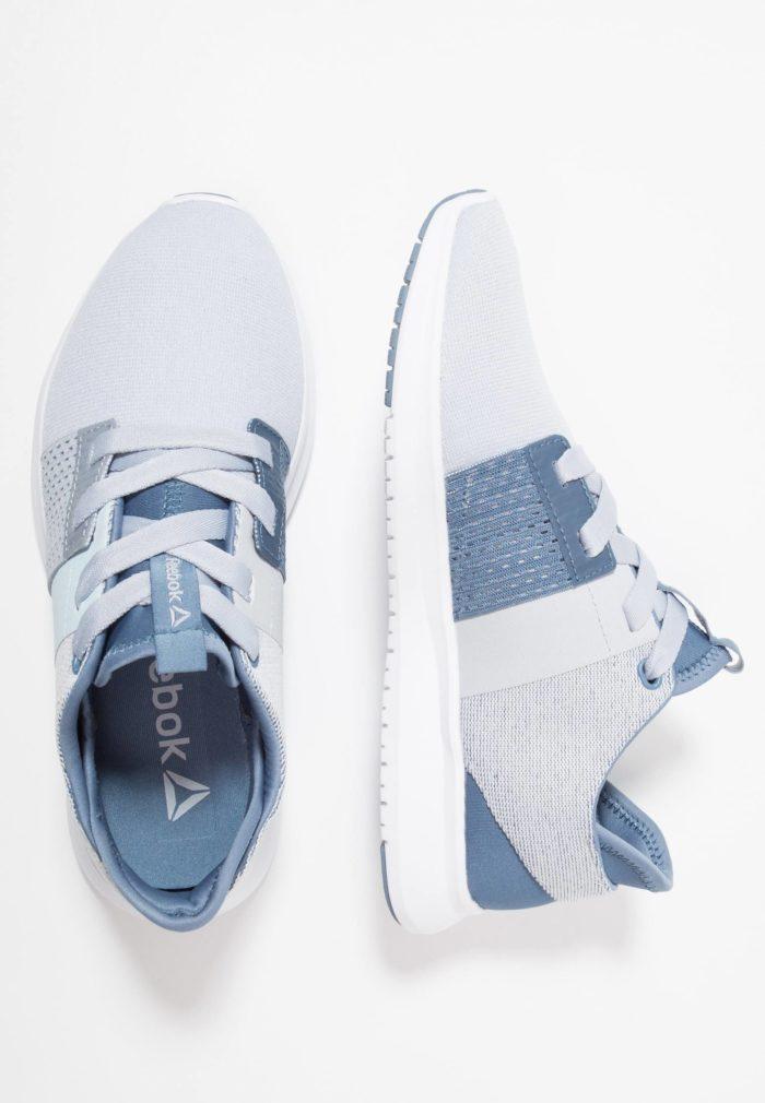 Женские кроссовки Reebok серые с голубым
