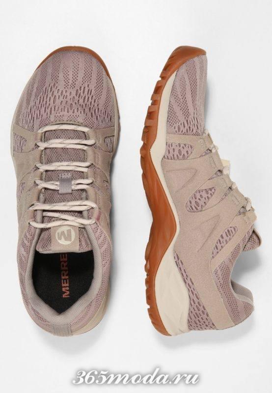Женские кроссовки бежевые