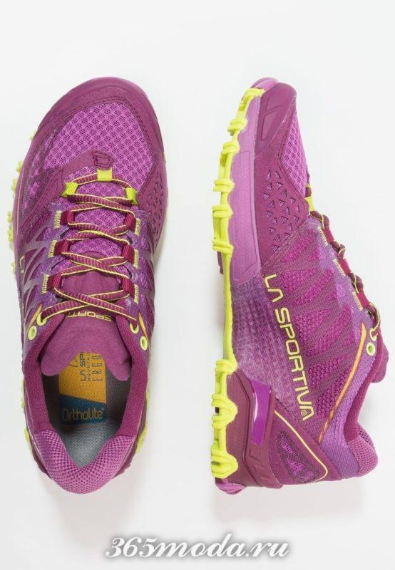 Фиолетовые кроссовки женские