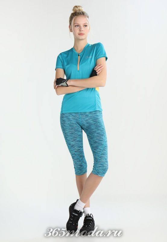 Женский спортивный костюм голубой