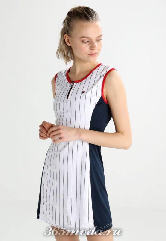 Спортивное платье в полоску