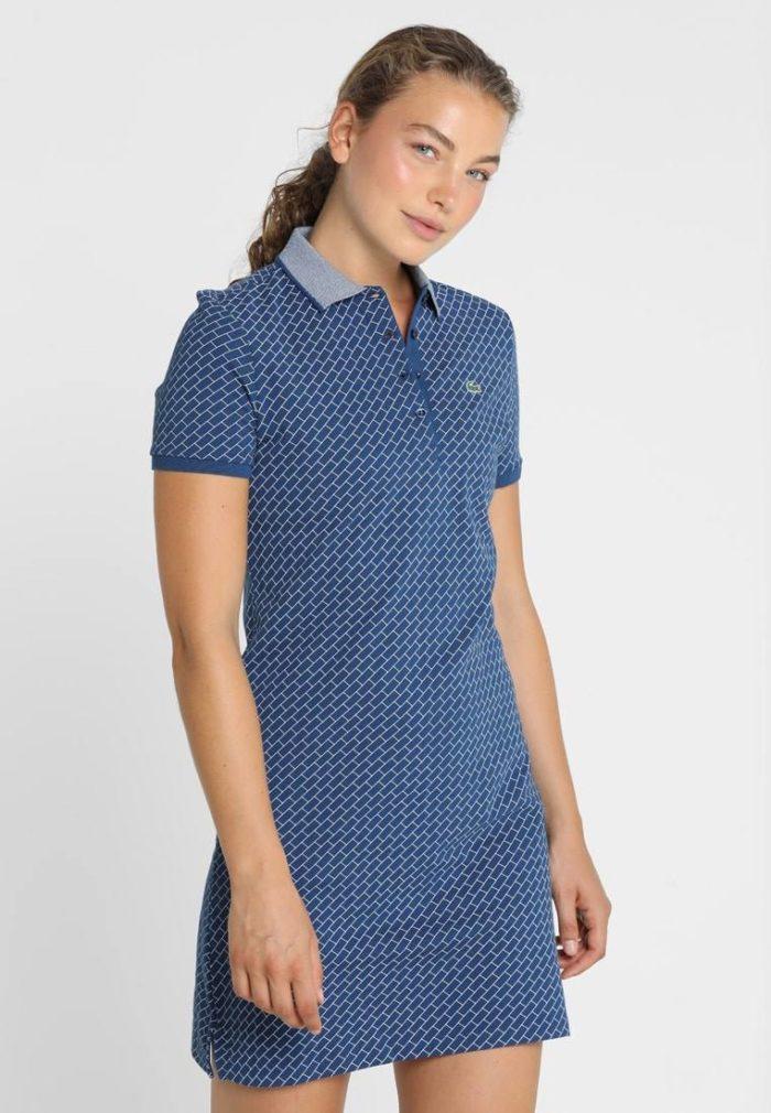 Спортивное платье синее