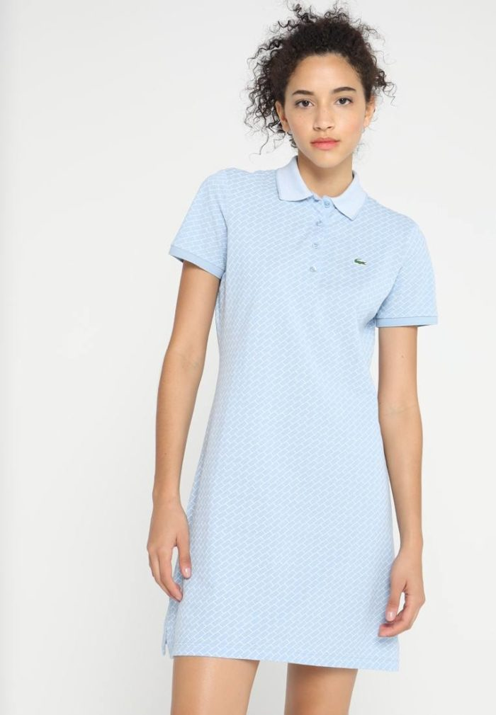 Спортивное платье голубое