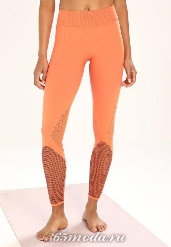 Оранжевые леггинсы