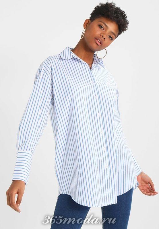 Деловая рубашка в полоску