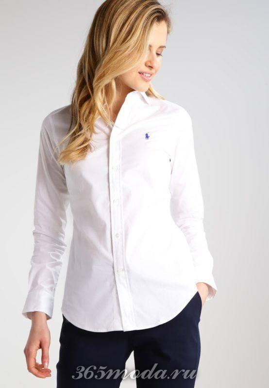 Деловая белая рубашка