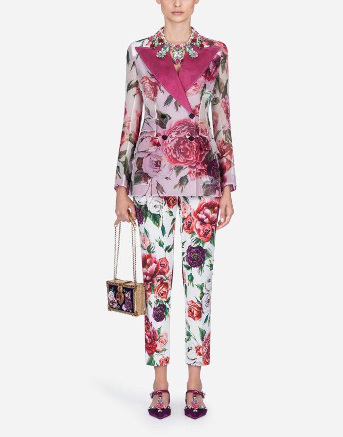 Модные принты в деловых костюмах весна-лето 2019