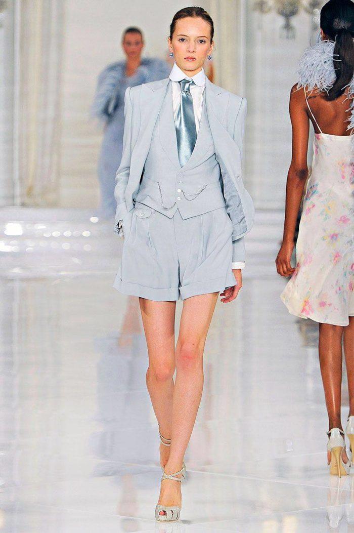 Модные деловые костюмы с шортами весна-лето 2019