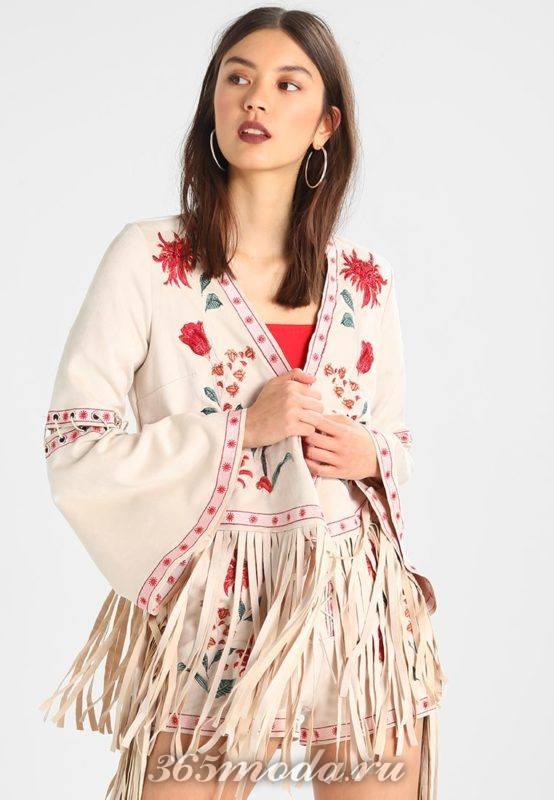 Куртка женская в цветок