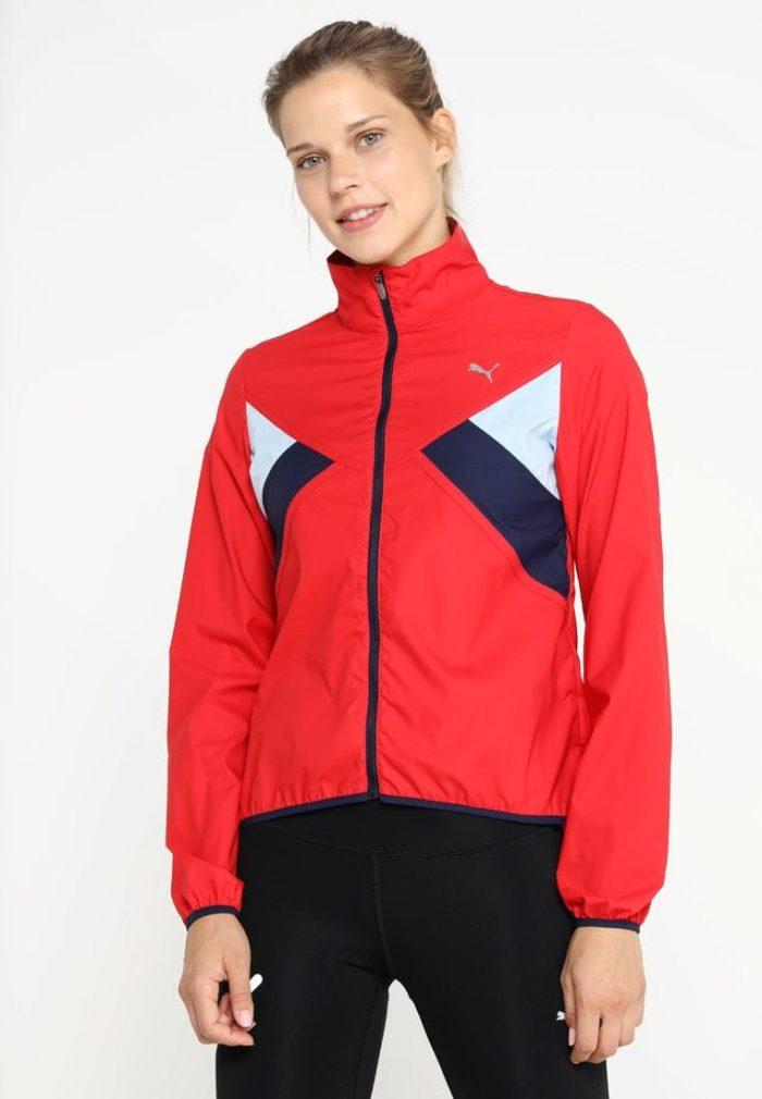 Спортивная куртка красная