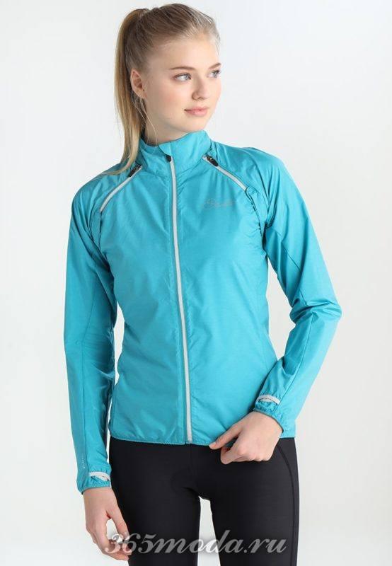 Спортивная куртка голубая