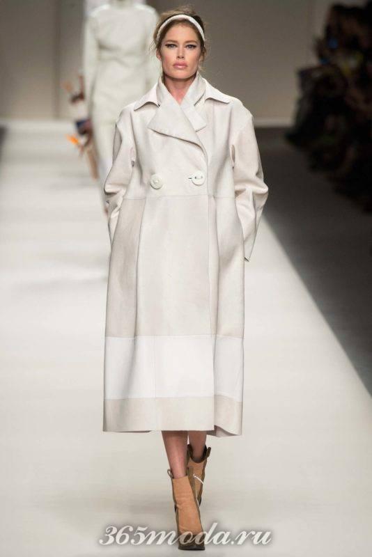 Пальто женское белое