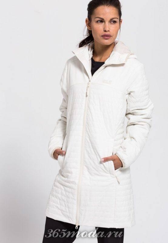 Спортивное пальто женское белое