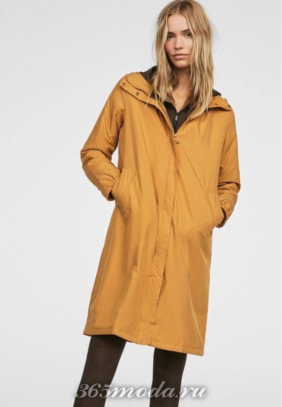 Спортивное пальто женское оранжевое