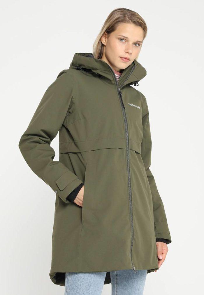 Спортивное пальто женское болотное