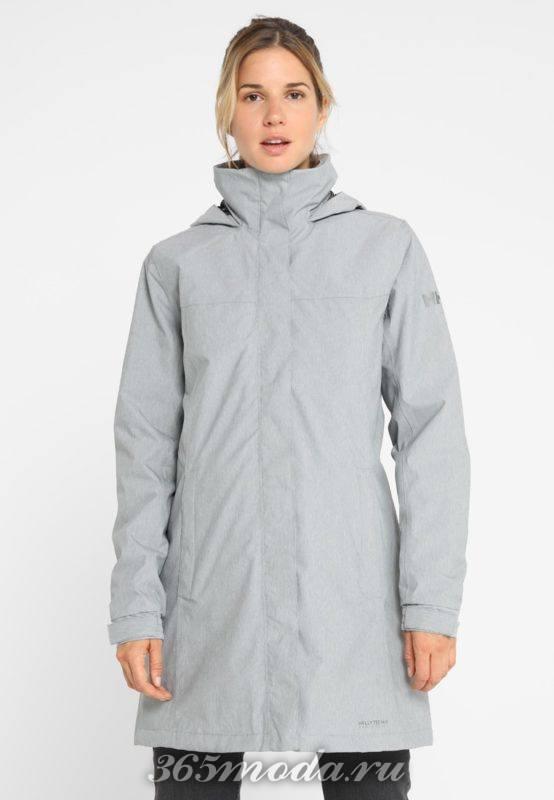 Спортивное пальто женское серое