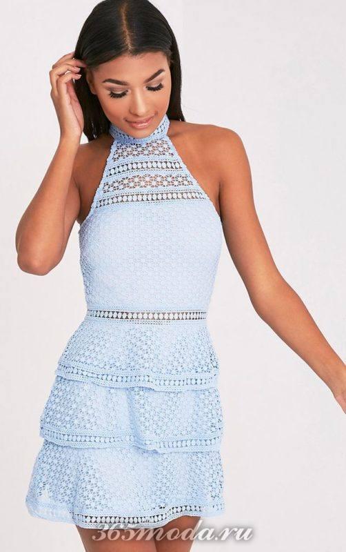 Модные кружевные платья на выпускной 2019