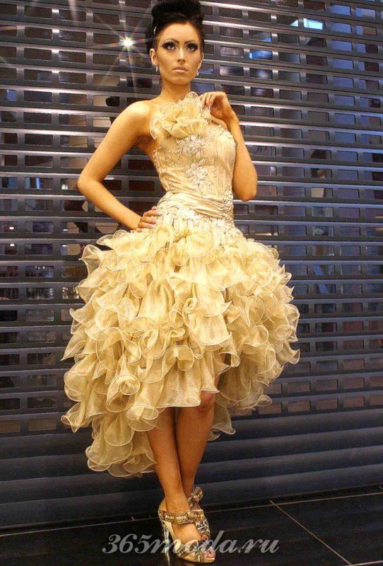 Модные платья-маллет на выпускной 2019