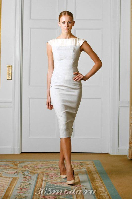 Модное классическое платье весна-лето 2018