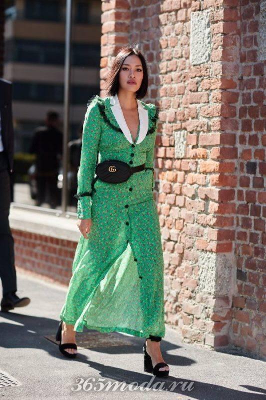 Модное повседневное платье весна-лето 2018