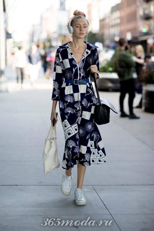 Модный принт повседневного платья весна-лето 2018