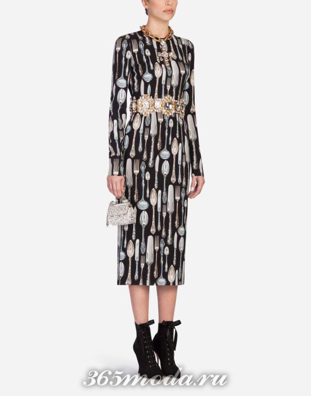 Модный декор повседневных платьев весна-лето 2018